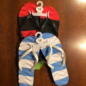 Men's flip flops brand new w/tags- 2 pairs